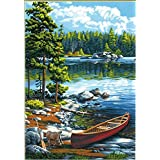 Dimensions Canoe Lake Paint by Numbers Craft Kit, 14'' x 20'', None