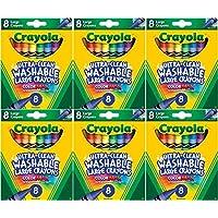 Crayola Large Washableクレヨン、8カウント Pack of 6 NA