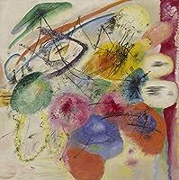 """ブラックストロークI–by Wassily Kandinsky–Unframed 16"""" by 16"""" GC-201307031-1616"""