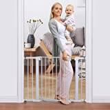 "Cumbor 40.6"" Auto Close Safety Baby Gate, Durable Extra Wide Child Gate for Stairs,Doorways, Easy Walk Thru Dog Gate for Hous"
