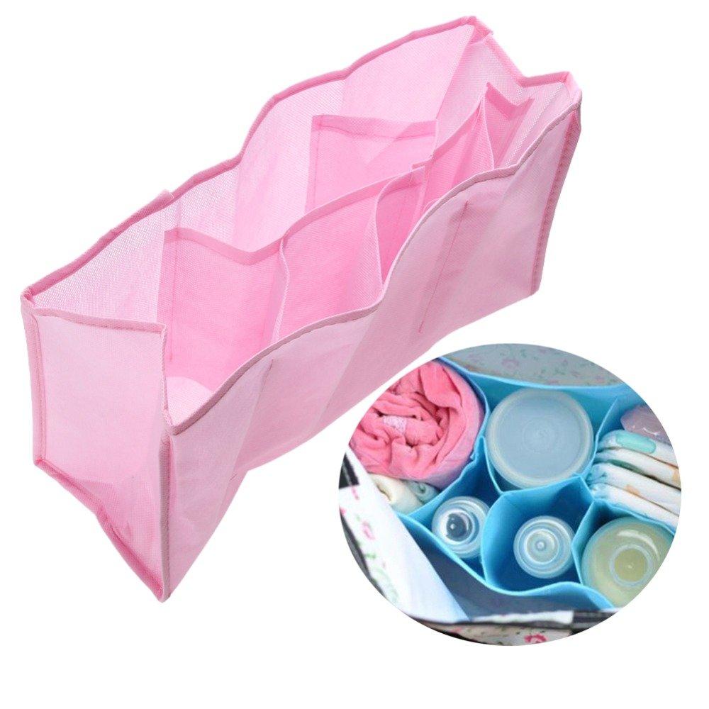 おむつポーチ おしめバッグオーガナイーの食品貯蔵容器内の別の旅行の非編まれた赤ちゃんのおむつ記憶 32×14×20 cm カラーはランダムです