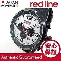 RED LINE (レッドライン) 50057-BB-02S APEX12 クロノグラフ ラバーベルト ブラック×ホワイト メンズウォッチ 腕時計 [並行輸入品]