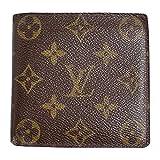 (ルイヴィトン) LOUIS VUITTON 二つ折り財布 モノグラム マルコ ブラウン M61675