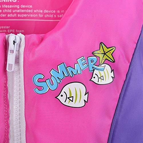 ベスト キッズ HIKING ライフジャケット フローティング シュノーケリング 股ベルト付き 2色 幼児 子供用 道具