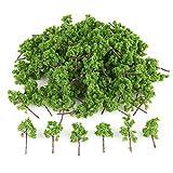 情景コレクション・樹木 100本セット 高約4cm  濃い緑  DIY・建築模型・情景コレクション・鉄道模型・ジオラマ・教育・写真に