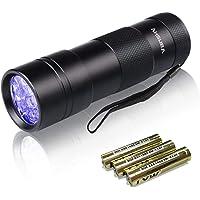Vansky 12LED 紫外線 ブラックライト UVライト 紫外線 ライト レジン用硬化ライト 目には見えない汚れに対…