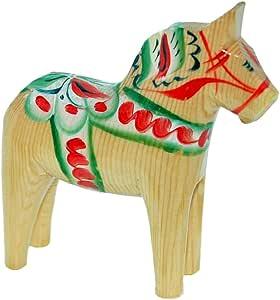 """スウェーデン木製Dala Horse–Natural–4"""""""