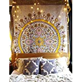 "Floral Medallion Wall Tapestry Headboard Wall Art Bedspread Home Décor,60"" Wx 80"" L"