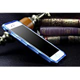 Qukick 電話ケース互換のPhone 6 / 6s、耐衝撃性を備えたアルミメタルバンパーフレームインナーデュアルレイヤー(グレー) (色 : 青, サイズ : IPhone X)