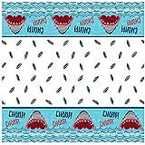 (Tablecover) - Unique Party 72533 Shark Party Plastic Tablecloth, 2.1m x 1.4m
