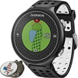Garmin Approach S6 Golf GPS Sports Watch Black Comes with a Custom Ball Marker Hat Clip Set (American Eagle) [並行輸入品]