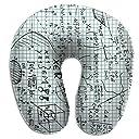 SkyDoor J 数学 草稿 首枕 ネックピロー U型枕 持ち運び枕 旅行枕 ネッククッション 旅行用品 飛行機 新幹線 バス 長時間移動 枕 抱き枕 首サポーター枕 人体工学設計 ネックサポート 携帯枕