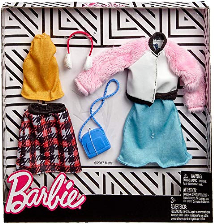 バービー 人形 洋服 ウィンターファッション 服 アクセサリー ファッション2パックセット [並行輸入品]