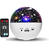 HUMOZM Night Light Star Projector for Kids, 6 Colors Change Starlight Projector, Bedroom Skylight Projector with Bluetooth &