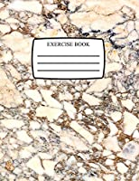 Exercise Book: Cream/Brown Marble Notebook Softback 100 Lined Pages 8.5 X 11 (Notebook for School/Office/Home)