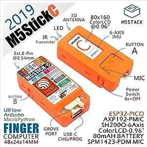 2019 M5StickC ESP32 PICOミニIoT開発ボードフィンガーコンピューターカラーLCD付き (1セット)