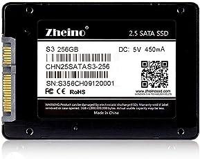 Zheino S3 SSD 256GB 内蔵2.5インチ 7mm 3D Nand 採用 SATA III 6Gb/s 3年保証