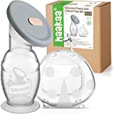Haakaa 150ml Manual Breast Pump with Leakproof Silicone Lid and 75ml Wearable Ladybug Breast Milk Collector Combo New Breastf