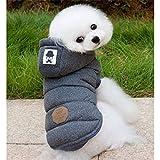 BXL ジャケット 犬服 冬服 おしゃれ かわいい わんちゃん 秋冬モデル 高品質 あったか ドッグウェア (M, グレー)