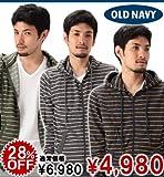 Men's Thin-Stripe Zip Hoodies (3色) (117962052) (S,M,L,XL) オールドネイビー画像①