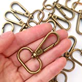 "15 Pcs 3/4"" or 1"" Inside Diameter Oval Ring Lobster Clasp Claw Swivel for Strap Push Gate Lobster Clasps Hooks Swivel Snap Fa"