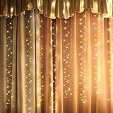 イルミネーションライト 300LED電球3M*3M led ストリングライトUSB充電式 クリスマス パーティー 結婚式 誕生日 飾りライトフェアリーライト点滅ライト銅線 ワイヤーライト電飾 室内室外リモコン付き 防水 電球色