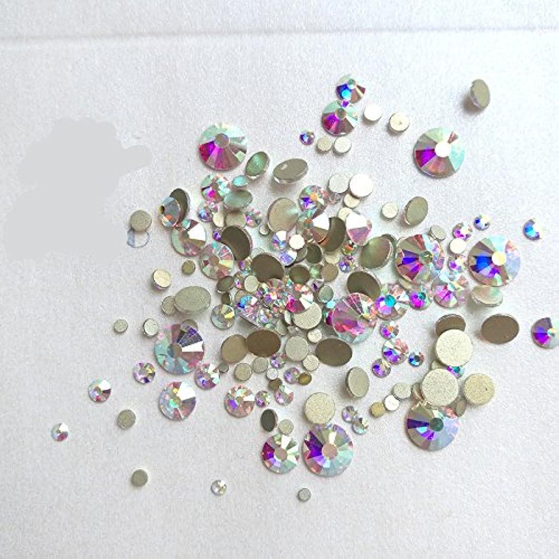 道虚弱磁石ガラス製ラインストーン クリスタルAB 各サイズ選択可能 (6.5mm (SS30) 約288粒) [並行輸入品]