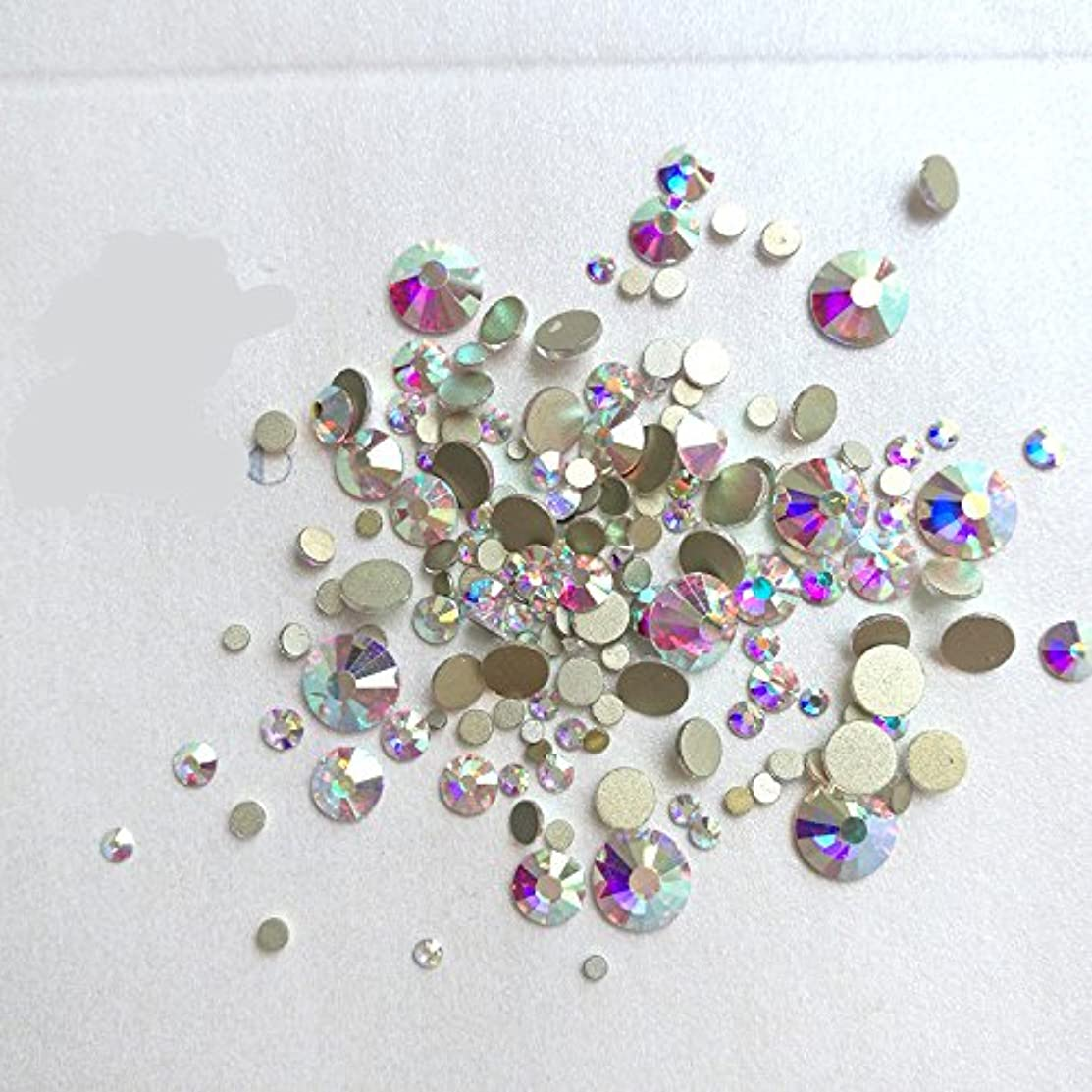 エゴマニア手足回想ガラス製ラインストーン クリスタルAB 各サイズ選択可能 (6.5mm (SS30) 約288粒) [並行輸入品]