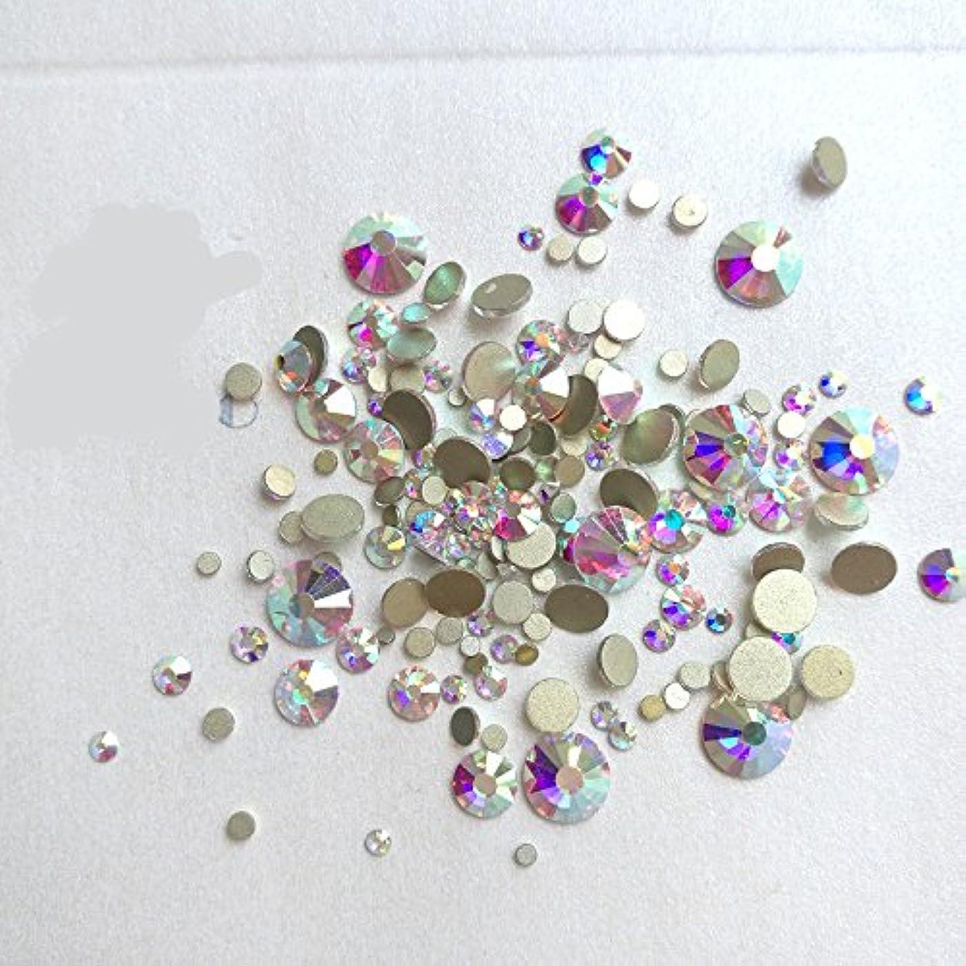 ムス不定繰り返しガラス製ラインストーン クリスタルAB 各サイズ選択可能(4.8mm (SS20) 約1440粒) [並行輸入品]