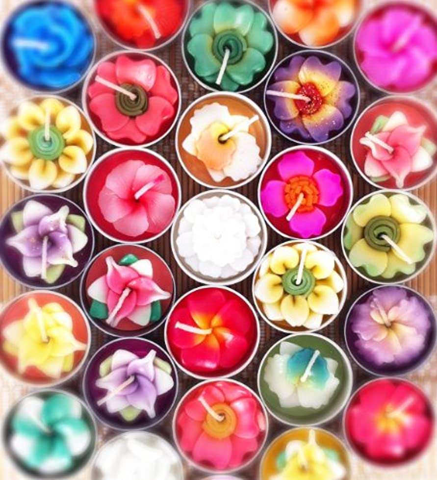 今栄養番目Tiddin Design【キャンドル】フラワーキャンドル/ティーライトキャンドル/ろうそく/花の香り/Flower Candle (10個入りお徳用パック)
