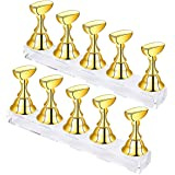 False Nail Tip Holder Acrylic Nail Art Display Practice Stand Magnetic Design for DIY Painting Fingernail Manicure Tool Home