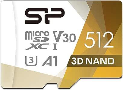 シリコンパワー microSD カード 512GB class10 UHS-1 U3 対応 最大読込100MB/s 4K対応 3D Nand 【Amazon.co.jp限定】