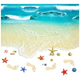 TAKARAFUNE ウォールステッカー 海 wall sticker ウォールペーパー 3d壁紙 ウォールシール 地面に綺麗な砂浜と海 60*90cm