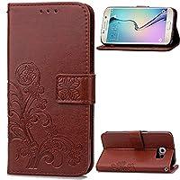 Samsung Galaxy S6 Edge Plus サイドフリップケース 横開きスマホケース カードポケット付き 財布型 シンプル 純色 「全6色」 ...