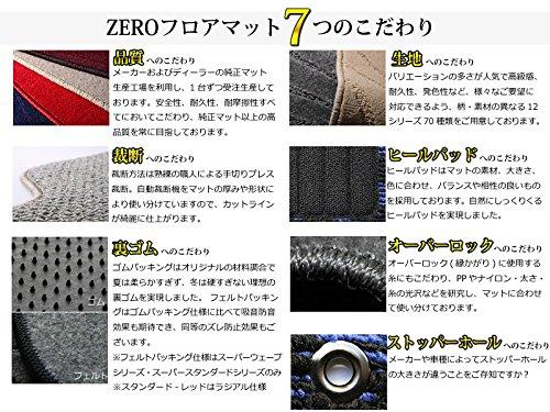 ZERO ゼロ フロアマット(脱臭・消臭加工済み) プジョー 308SW ワゴン(3列目付) 2008/9~2014/11 T7W5FT 右ハンドル用 チェック レッド/ブラック ヒールパッド付