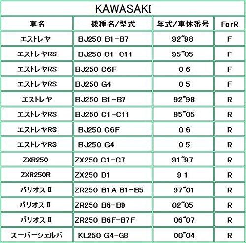 (トクトヨ)Tokutoyo ZZ-R250、バリオス、KSR-1、II用ブレーキパッド 後 T067