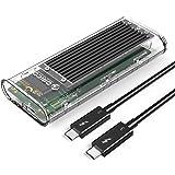 ORICO Thunderbolt 3 Nvme M.2 SSDケース Intel公式認証 40Gbps超高速 [読み込み速度:2300MB/S 書き込み速度:2100MB/S] ポータブル 外付けケース 2280(M-Key)SSDのみ対応 M.2