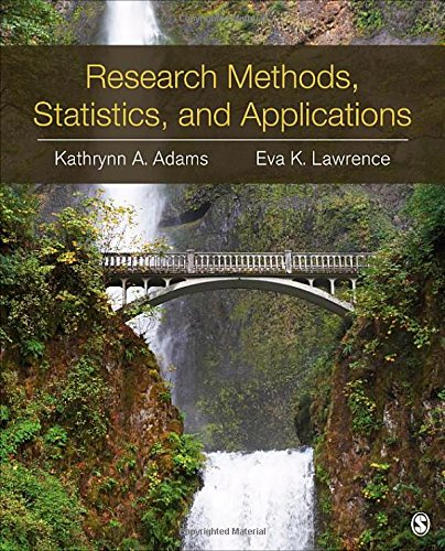 Download Research Methods, Statistics, and Applications 1452220182