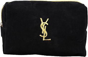 Yves Saint Laurent イヴサンローラン コスメポーチ 小物入れ ブラック×イエロー 並行輸入品 AMI119