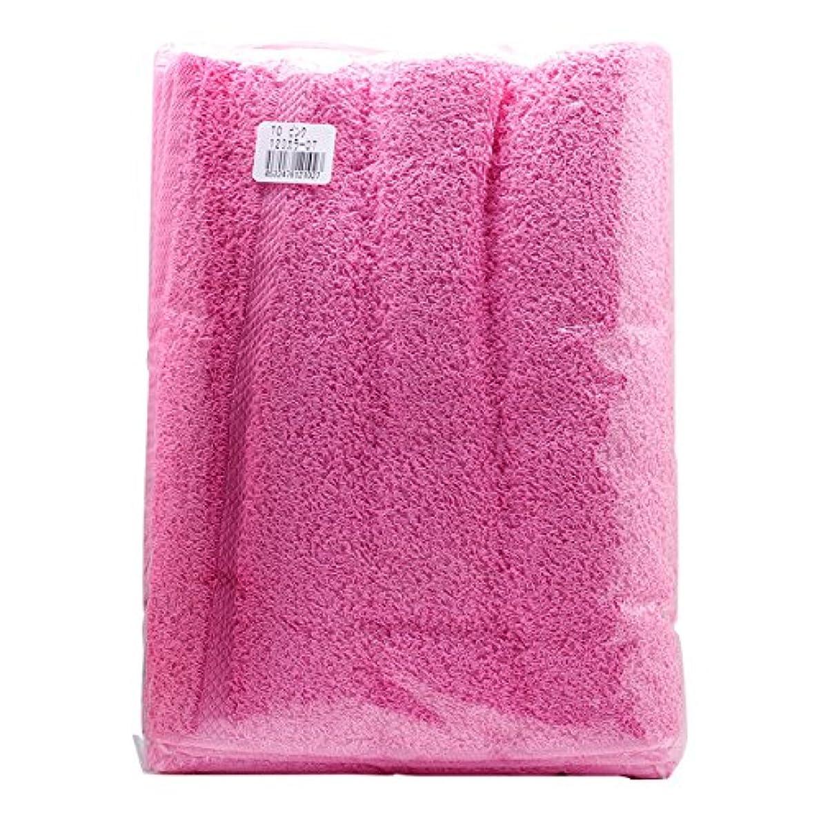 くつろぎ楽な批判TO カラーおしぼり 120匁 (12枚入) ピンク
