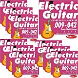 "Ikebe Original Electric Guitar Strings ""イケベ弦 エレキギター用 009-042"" [Super Light Gauge/IKB-EGS-0942]×10セット"