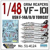 DXMデカール DXM-51-4124 1/48 アメリカ海軍 F-14A/B/D VF-101 グリム・リーパーズ