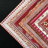 (デイリー スウィート)Daily Sweet 6種類 ランダムで発送 手芸用 DIY 手作り 生地 カットクロス パッチワーク 布 100%綿 25*25cm 12枚セット 赤