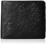 [ルエゴ] 角シボ型押し 二つ折り財布 MWGR-02 BK ブラック
