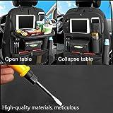 Multifunctional Waterproof Travel Car Seat Back Organiser iPad Holder Foldable Table Desk Tray Bag Storage Pockets USB