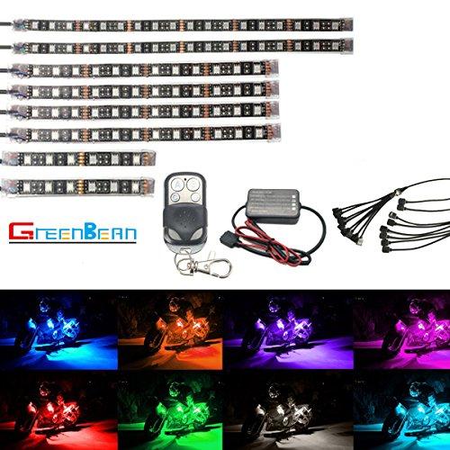 バイク用 RGB LEDテープライト GREENBEAN オ...