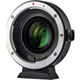 Viltrox EF-EOS M2 Focal Reducer Booster Adapter Auto-Focus 0.71x for Canon EF Mount Lens to Canon EOS M Camera M1 M2 M3 M5 M6