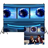 Leowefowa 7X5FT Studio TV Backdrop Interior Broadcasting Backdrops for Photography Global News Reportage Screen Conference Vi