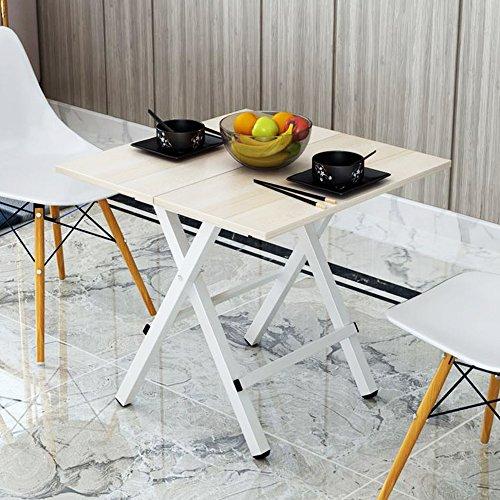 Soges テーブル折りたたみデスク 折りたたみ式のサイドテーブル 食卓 簡単にトッププル チークカラー 完成品 80*80cm