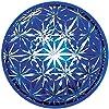 セメントプロデュースデザイン ガラスケース 麻の葉文様/青 10×2.5cm キリハコ KH-02bl